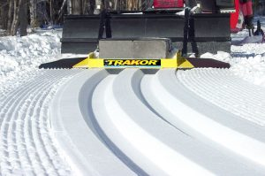 Cross Country Ski Tracks being laid.