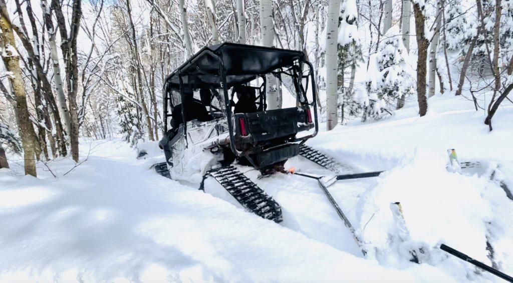 Deep snow grooming